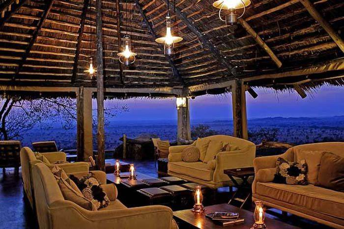 Serengeti Pioneer Camp Lounge Interior At Sunset Mid Light